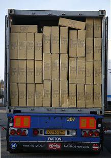 Vollbeladener Lastwagen